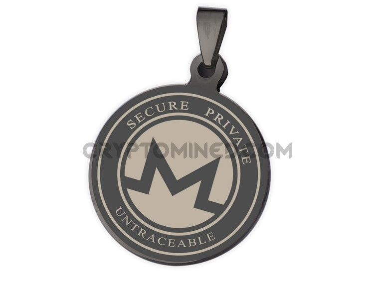 Monero Black Coin QR Wallet Pendant for Necklace